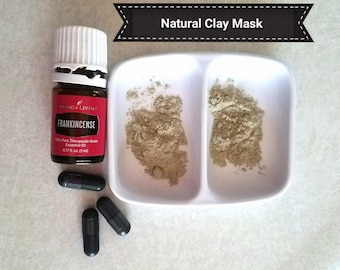 100% Natural Clay Face Mask for everyday beauty! Just add water! Pure, Safe, Beautiful, & it works!