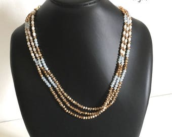 Long necklace 1 - 2 - 3 rounds