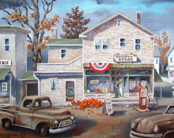 Oil painting Country Store