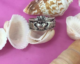 Celtic Claddagh 925/sterling silver ring