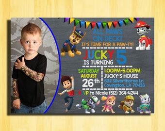 Paw Patrol Birthday Invitation, Paw Patrol Invitation, Paw Patrol Party Invitations, Paw Patrol Birthday Party, Paw Patrol Invitation Boy