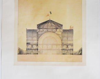 Jakob Ignaz Hittorff edition of 5 Champs Elysees Rare Vintage