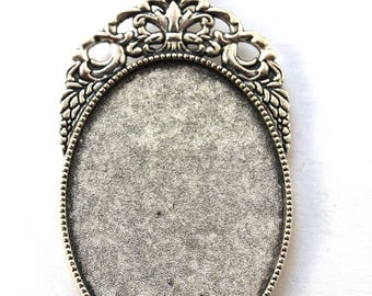 Support cabochon (30x40mm) pendant