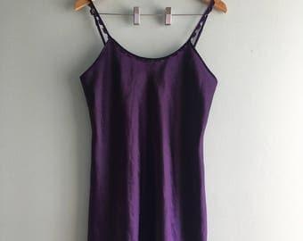 Vintage Deep Purple Teddy//Rosette Detail//Shimmery Fabric