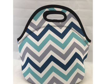 Lunch Bag | Kids Lunch Bag | Insulated Lunch Tote | Lunch Box | Office lunch bag | Holiday Gift | Teacher Gift Nurse Gift |  BGB Chevron