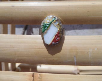 The Japan white Orchid ring