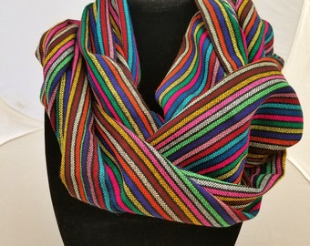Traditional Mexican Handmade Striped Scarf