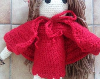 Doll little Red Riding Hood crochet