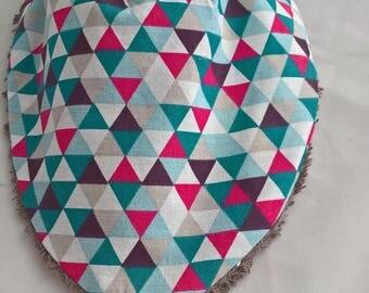 Handmade bandana bib
