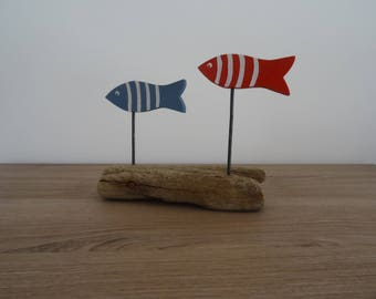 Decor 2 Driftwood red and blue fish