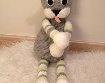-Customizable - amigurumi handmade striped cat