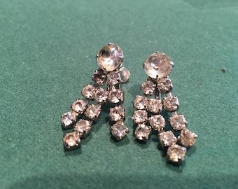 Vintage faux diamond earrings