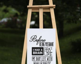 Maternity quote - vinyl on poster paper (2 sizes offered, on paper or textured paper) - Decor