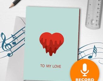Cute valentine card  Etsy