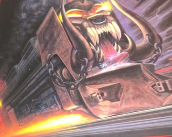 Signed Motorhead Orgasmatron calendar '87