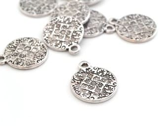16mm silver round medal pendant