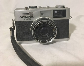 OLYMPUS 35 RC Compact 35mm Rangefinder Auto-Exposure Film Camera, E ZUIKO 42mm f/2.8 Lens, 1970's Vintage Camera
