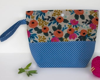Knitting Project Bag, Project Bags for Knitting, Project Bag, Knitting Bags, Sock Knitting Bag, Wip Bag, Knitting Tools, Yarn Storage Bags