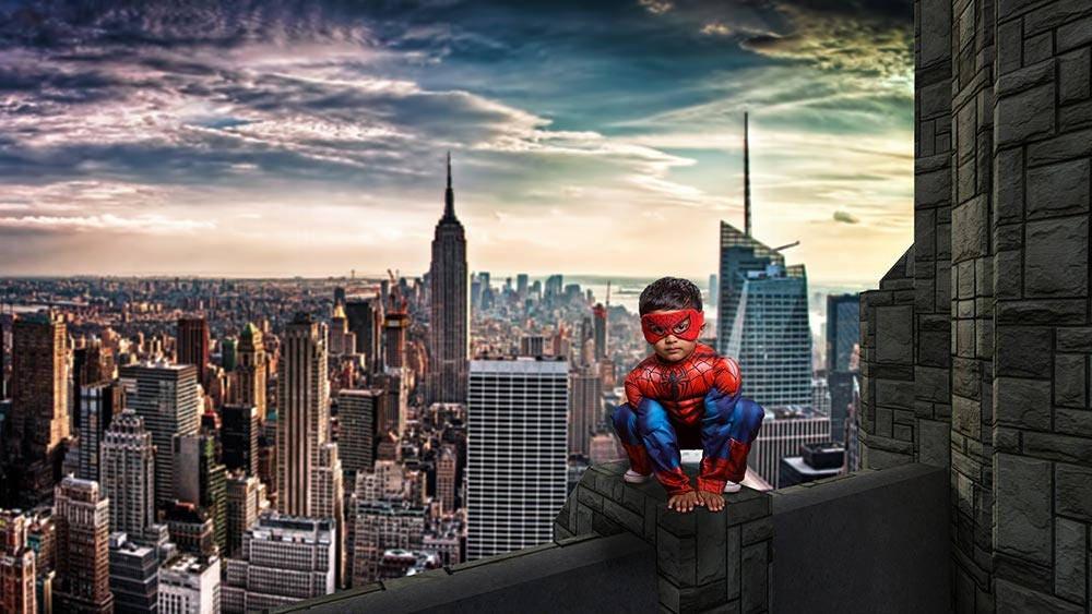 Spiderman City Backdrop   www.pixshark.com - Images ...