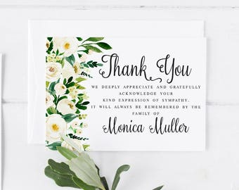 thank you funeral cards