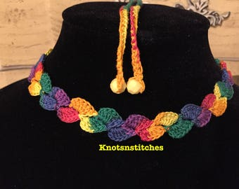 Handmade Shell Crochet Choker