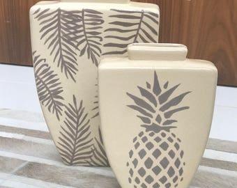 Double Pineapple Vases