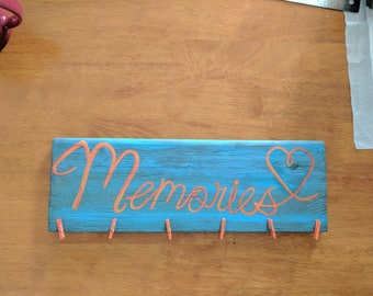 Rustic memory picture frame