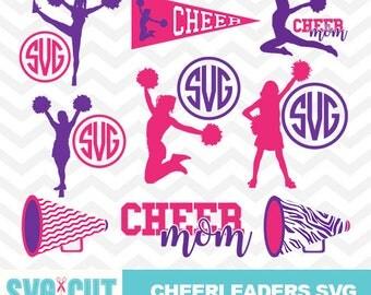 Cheerleader SVG file, Cheerleader Monogram, Cheerleader Clipart, Cheer Mom SVG, Cheer Mom Cut Designs, Mom SVG Cut Designs, svg-025