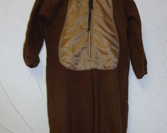 Brown cat with hood costume