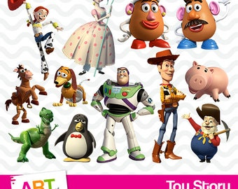Toy Story Clipart, High Resolution Toy Story Images, Toy Story Birthday Party, Disney PNG Files, Disney Printables, Woody, Buzz, art-017