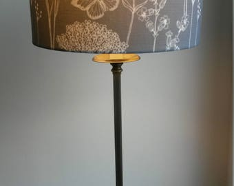 "Handmade lampshade in Isabela Peters ""Fairy Glen"" fabric. 30cm Drum shade."