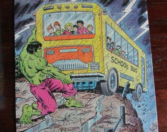 Vintage THE INCREDIBLE HULK Golden Puzzle 100 Pieces 1980's