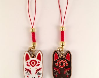 Kitsune Mask Charm | Wooden Charm