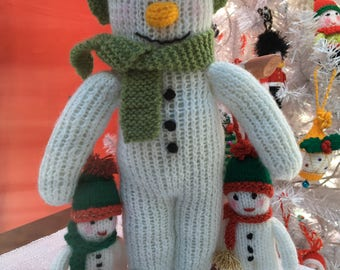 Snowman Hand-Knitted Toy