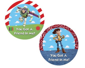 Woody and Buzz Best Friends Button Set - Toy Story Button - Theme Park Button - Friendship Buttons