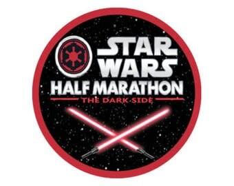 Star Wars Half Marathon Button - runDisney Event Button - Star Wars Dark Side Button - Racing Pin - Running Pin - Theme Park Button