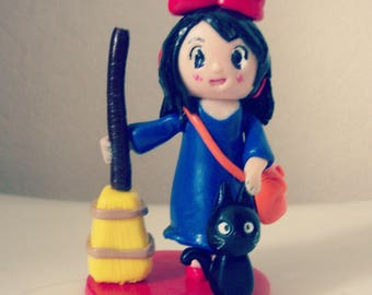 The little witch Ghibli Kiki figurine