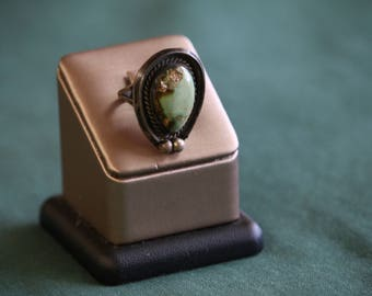 Turquoise Tear Drop Ring Size 4