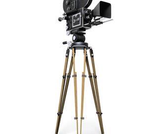 Hollywood Camera Cardboard Cutout