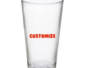 Customized 16 oz Pint Glass