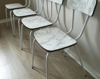 marble effect formica Chair