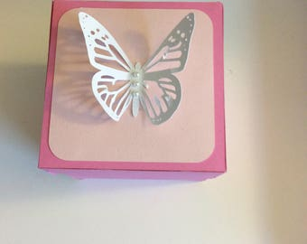 Pink Butterfly explosion box