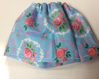 MSD 1/4 Flower Print Bjd Skirt