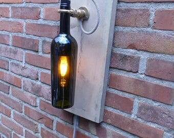 Fles wandlamp