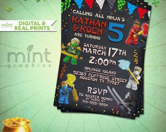 Ninjago Birthday Invitation - Ninjago Invitation -  Lego Party - Lego Ninjago Lego Ninjago Party Lego Ninjago Invitation Lego Invitation
