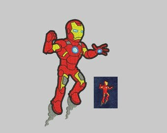 Ironman Embroidery Design - 3 sizes machine embroidery INSTANT DOWNLOAD