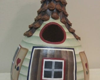 Handcrafted Medium Size Kettle Gourd Birdhouse