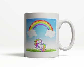 Unicorn Mug| Unicorn| Rainbow Unicorn Mug| Magical Unicorn Mug| Unicorn Rainbow 007