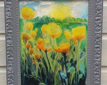 Meadow series If I Were A Bee #3 Buttercup Field
