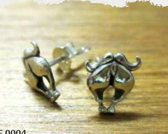Buffalo backside stud earrings